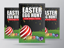 Huevo de Pascua Hunt Flyer Template Design Foto de archivo