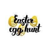 Huevo de Pascua Hunt Handwritten Lettering Foto de archivo