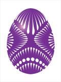 Huevo de Pascua púrpura Imágenes de archivo libres de regalías