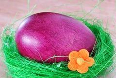 Huevo de Pascua púrpura Fotos de archivo libres de regalías