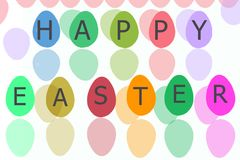 Huevo de Pascua para el día de fiesta de pascua con el aislante blanco Imágenes de archivo libres de regalías