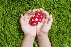 Huevo de Pascua para usted Imágenes de archivo libres de regalías