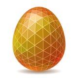 Huevo de Pascua poligonal abstracto Imagenes de archivo