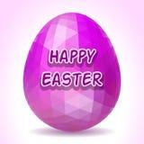 Huevo de Pascua poligonal abstracto Imagen de archivo