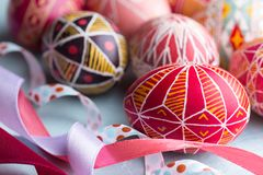 Huevo de Pascua Pysanka Fotos de archivo
