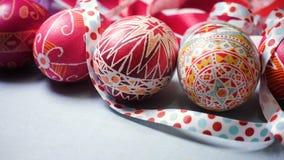 Huevo de Pascua Pysanka almacen de metraje de vídeo