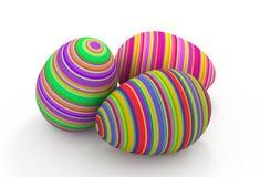 Huevo de Pascua rayado colorido libre illustration