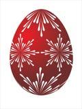 Huevo de Pascua rojo Fotografía de archivo libre de regalías