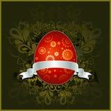 Huevo de Pascua rojo, vector