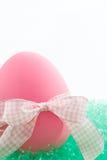 Huevo de Pascua rosado Fotografía de archivo