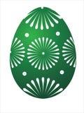 Huevo de Pascua verde Fotos de archivo libres de regalías