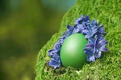 Huevo de Pascua verde hermoso Fotos de archivo