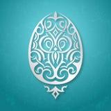 Huevo de Pascua withornamental de la tarjeta de felicitación Fotos de archivo