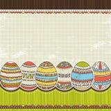 Huevo de seises Pascua sobre el fondo del color, vector stock de ilustración