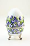 Huevo decorativo de la porcelana imagen de archivo libre de regalías