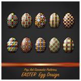 Huevo del día de Pascua con el estallido Art Geometric Pattern Style Imagen de archivo