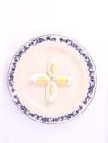 Huevo del desayuno de la visión superior Foto de archivo
