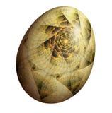 Huevo del fractal stock de ilustración
