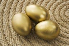 Huevo del oro Fotos de archivo libres de regalías