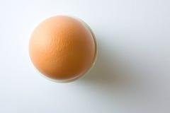 Huevo en blanco Imágenes de archivo libres de regalías