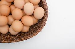 Huevo en cesta Fotografía de archivo libre de regalías