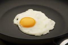 Huevo en la cacerola Imagenes de archivo
