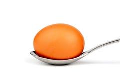 Huevo en la cuchara Imagen de archivo libre de regalías