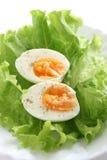 Huevo en lechuga Imagenes de archivo