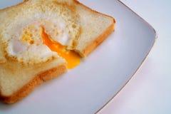 Huevo en tostada Foto de archivo