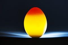 Huevo encendido parte posterior Fotos de archivo libres de regalías
