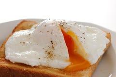 Huevo escalfado suave Foto de archivo libre de regalías