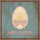 Huevo feliz del vintage de Pascua, vector Foto de archivo