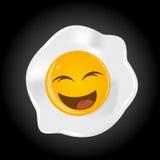 Huevo frito divertido Imagen de archivo libre de regalías