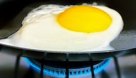 Huevo frito en cacerola fotografía de archivo libre de regalías