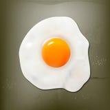 Huevo frito en el beton ilustración del vector