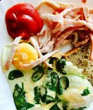 Huevo frito para el desayuno Imagen de archivo