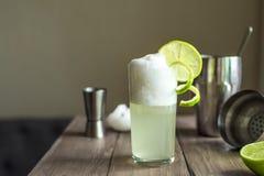 Huevo Gin Fizz Cocktail foto de archivo