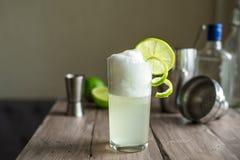Huevo Gin Fizz Cocktail imagen de archivo