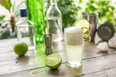 Huevo Gin Fizz Cocktail fotos de archivo