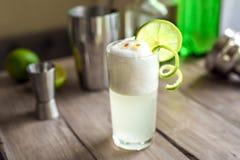 Huevo Gin Fizz Cocktail imágenes de archivo libres de regalías