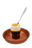 Huevo hervido para el desayuno Foto de archivo libre de regalías