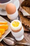 Huevo hervido suavidad para el desayuno Foto de archivo