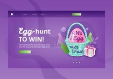 Huevo Hunt To Win Banner Template libre illustration