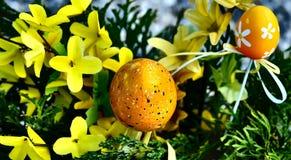 Huevo manchado feliz de Pascua Fotografía de archivo libre de regalías