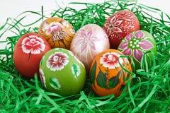 Huevo pintado a mano Foto de archivo libre de regalías