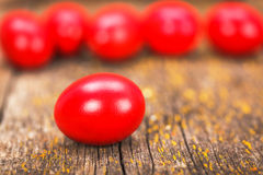 Huevo pintado rojo Imágenes de archivo libres de regalías