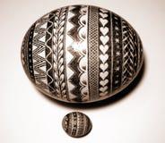 Huevo polaco de la avestruz de Pascua Imágenes de archivo libres de regalías
