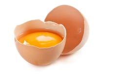 Huevo quebrado. Foto de archivo libre de regalías