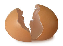 Huevo-quebrado Foto de archivo libre de regalías