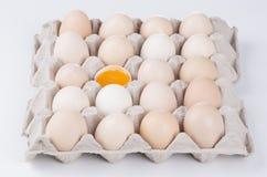 Huevo quebrado Imagen de archivo